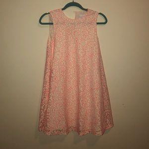 Bright Pink Skater Shift Floral Dress